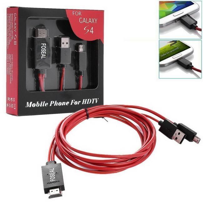 Cáp MHL to HDMI - Cáp kết nối Samsung Galaxy S3, Galaxy S4, S5, Galaxy Note 2 vớ