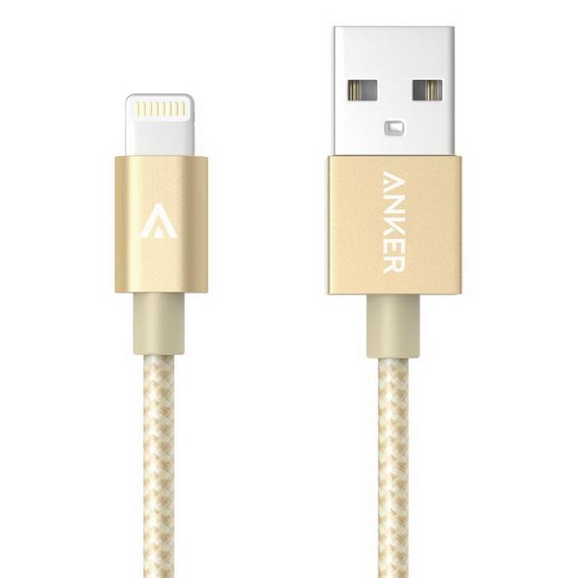 Cáp sạc chống gẫy Anker Lightning to USB dành cho iPhone 5, 5c, 5s, 6 và 6+, iPad Air, iPad mini