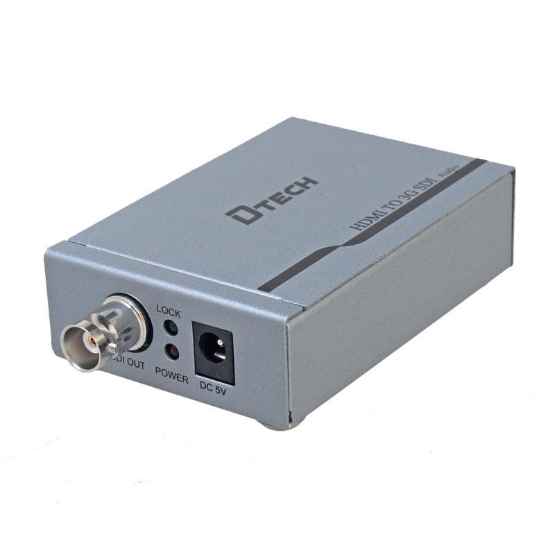 Bộ HDMI to SDI Dtech | Bộ chuyển tín hiệu HDMI sang cáp đồng trục SDI Dtech chính hãng giá rẻ
