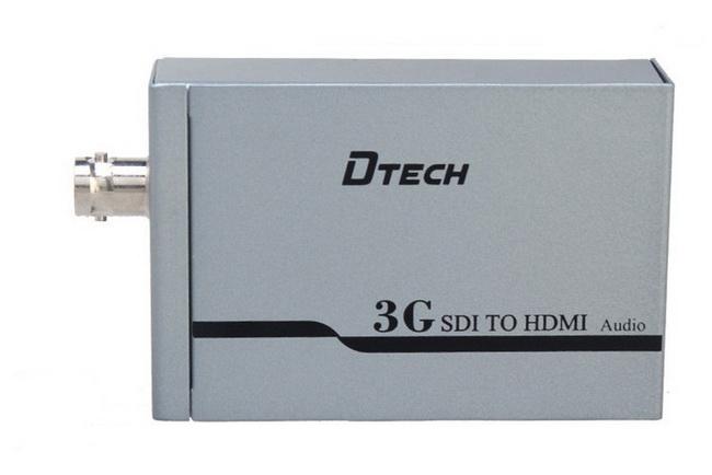 Bộ SDI to HDMI Dtech - Bộ chuyển tín hiệu cáp đồng trục SDI sang HDMI Dtech chính hãng giá rẻ