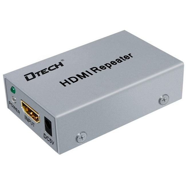 Bộ khuếch đại tín hiệu HDMI 50m - Bộ nối dài cáp HDMI 50m - HDMI Repeater 50m Dtech chính hãng giá rẻ