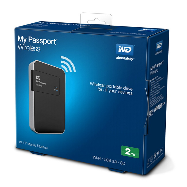 HDD My Passport Wireless 2TB - Ổ cứng di dộng WD 2TB kết nối Wireless lưu trữ di động không dây