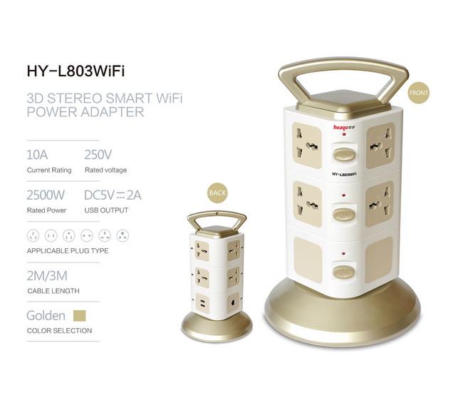 Ổ cắm điện đa năng 3 tầng có cổng sạc USB và WiFi chính hãng giá rẻ