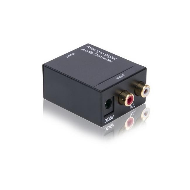 Bộ chuyển đổi âm thanh AV -  RCA -  Analog to Optical - Coaxial - Digital