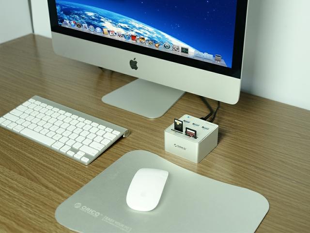 Hub Orico 3H3C - 3 cổng USB 3.0 Card Reader đầu đọc thẻ nhớ