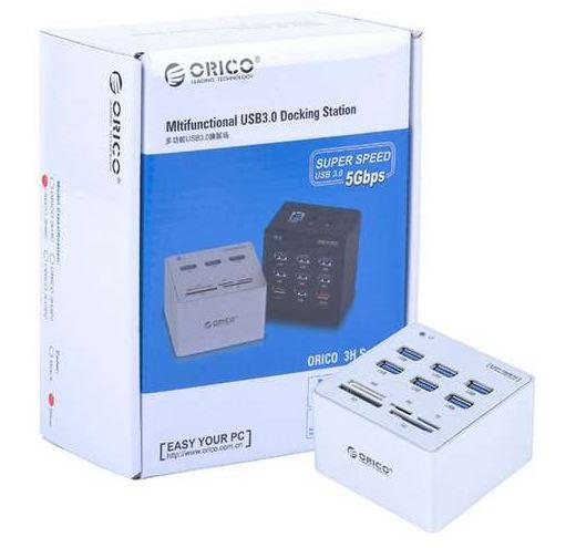 Hub Orico 3H6C - 6 cổng USB 3.0 Card Reader đầu đọc thẻ nhớ