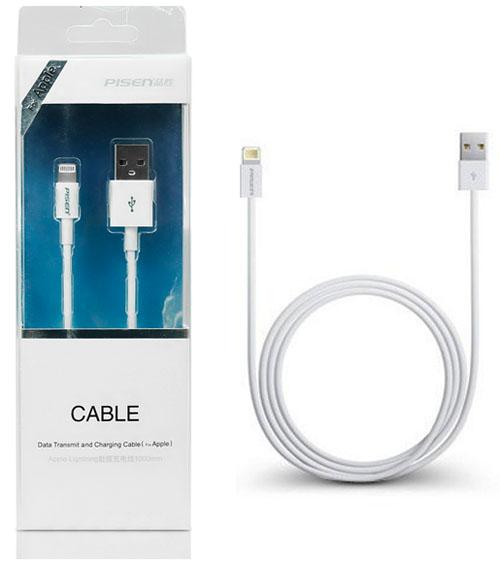 Cáp sạc Lightning to usb pisen 1m - Cáp sạc Lightning cho iphone ipad chính hãng giá rẻ