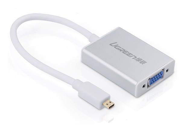 Cáp Micro HDMI to VGA - Cáp chuyển Micro HDMI sang VGA - Cáp micro hdmi ra vga Ugreen chính hãng giá rẻ