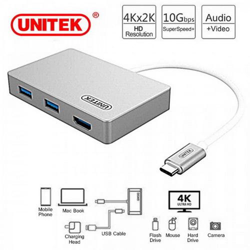 Cáp chuyển USB 3.1 Type-C chính hãng Unitek Y-3707