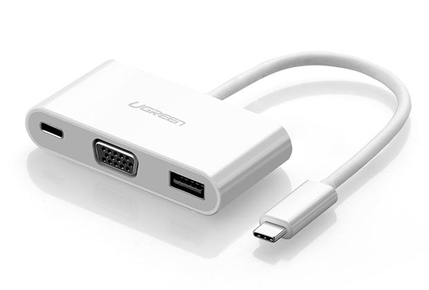 Cáp USB-C to VGA Digital AV Multiport Adapter - Cáp chuyển USB Type C 3.1 sang USB và VGA chính hãng