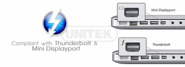 Cáp Mini DisplayPort to VGA chính hãng Unitek giá rẻ