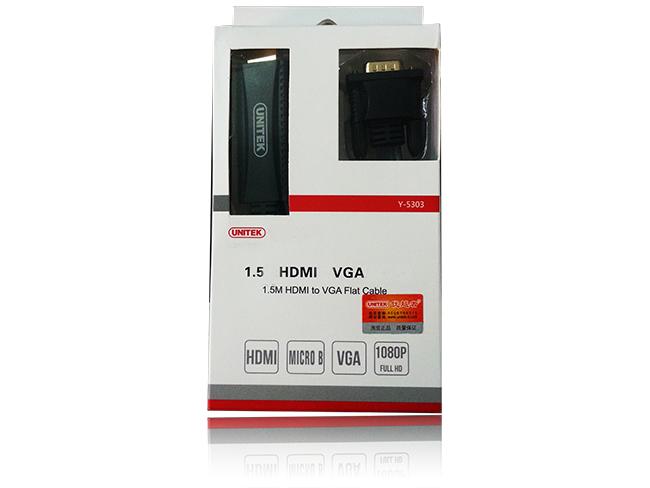 Cáp Chuyển HDMI sang VGA 1.5m Unitek Hàng chính hãng giá rẻ nhất