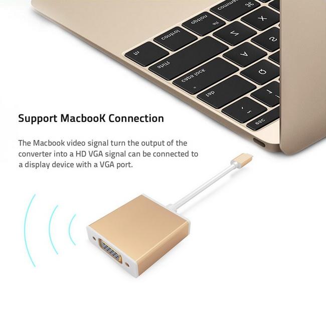 Cáp USB-C to VGA Adapter - USB 3.1 Type C to VGA Adapter chính hãng giá rẻ